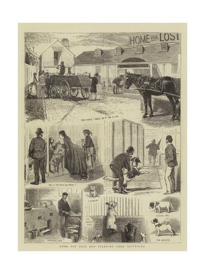 Home for Lost and Starving Dogs, Battersea-Alfred Chantrey Corbould-Giclee Print