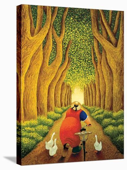 Home from the Market-Lowell Herrero-Stretched Canvas Print