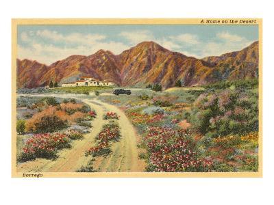 Home in the Desert, San Diego County, California--Art Print