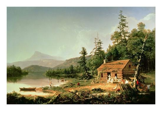 Home in the Woods, 1847-Thomas Cole-Giclee Print