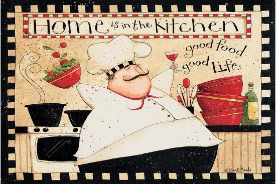 Home Is In The Kitchen-Dan DiPaolo-Art Print