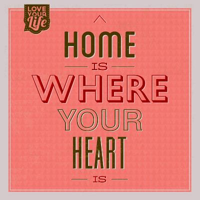 Home Is Were Your Heart Is 1-Lorand Okos-Art Print