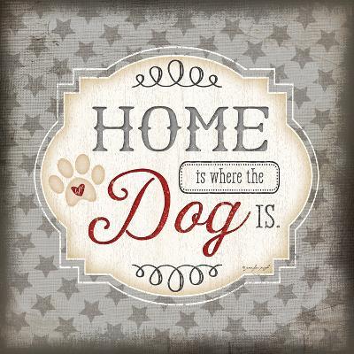 Home Is Where the Dog Is-Jennifer Pugh-Art Print