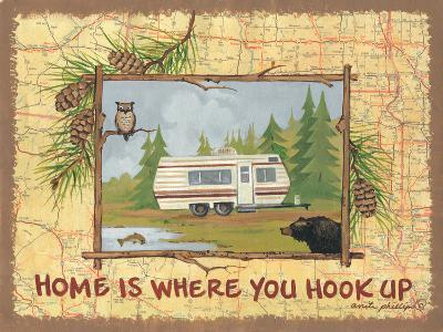Home Is Where You Hook Up-Anita Phillips-Art Print