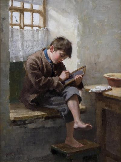 Home Lessons, 1887-Ralph Hedley-Giclee Print
