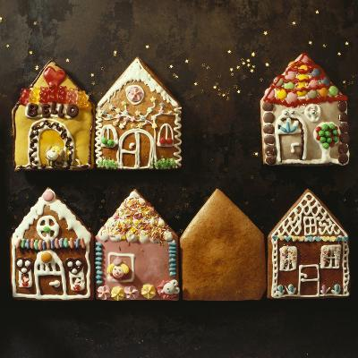 Home-Made Gingerbread in the Shape of Small Houses--Photographic Print