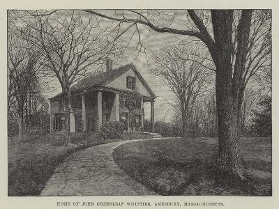 Home of John Greenleaf Whittier, Amesbury, Massachusetts--Giclee Print