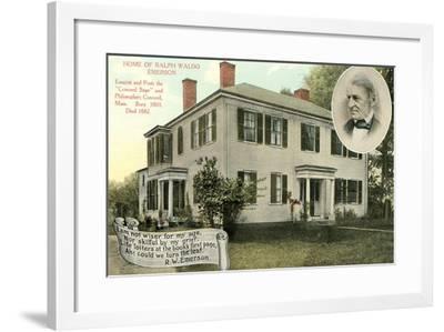Home of Ralph Waldo Emerson, Concord--Framed Art Print