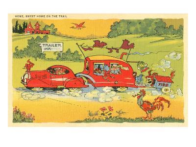 Home on the Trail, Trailer Humor--Art Print
