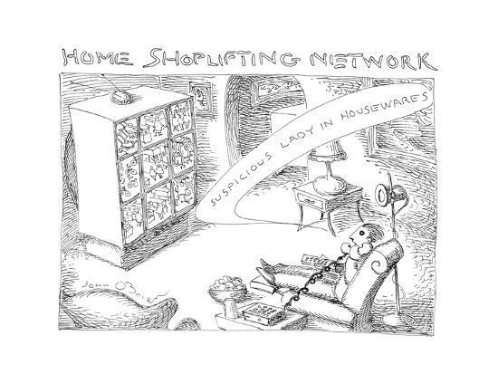 Home Shoplifting Network - Cartoon-John O'brien-Premium Giclee Print