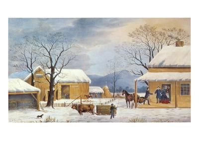 Home To Thanksgiving, 1867-Currier & Ives-Giclee Print