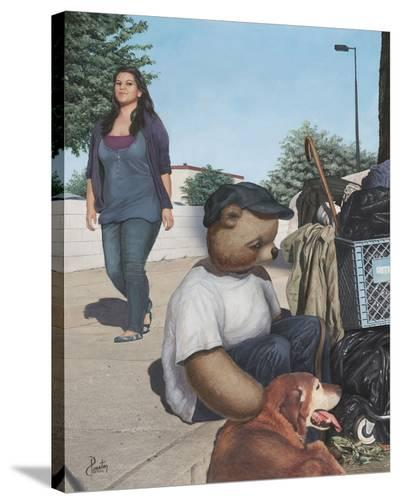 Homeless Teddy-Preston Craig-Stretched Canvas Print