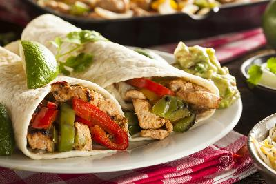 Homemade Chicken Fajitas with Vegetables-bhofack22-Photographic Print