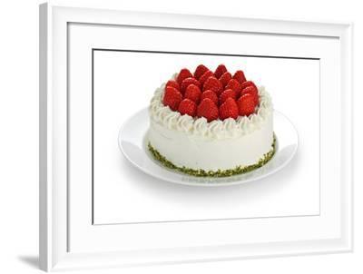 Homemade Strawberry Cake-oysy-Framed Photographic Print