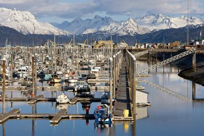Homer Boat Harbor in Spring, Kenai Peninsula, Alaska-Design Pics Inc-Photographic Print