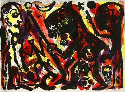 Homer u. Aristoteles, 1 Blatt-A^ R^ Penck-Limited Edition