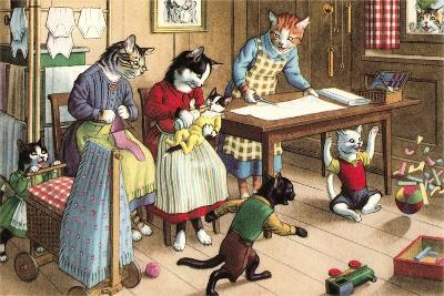 Homeschooling Crazy Cats--Art Print