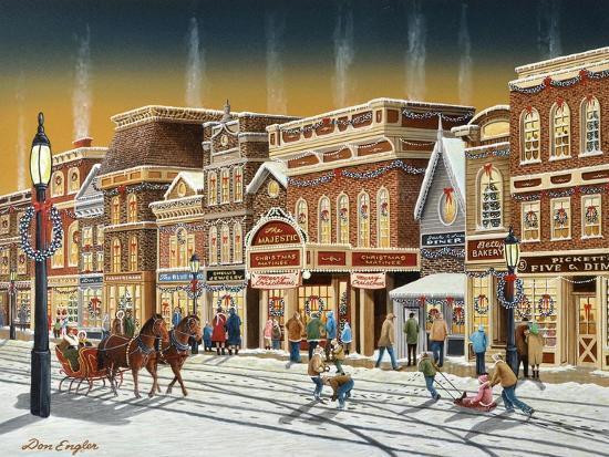 Hometown Christmas-Don Engler-Giclee Print