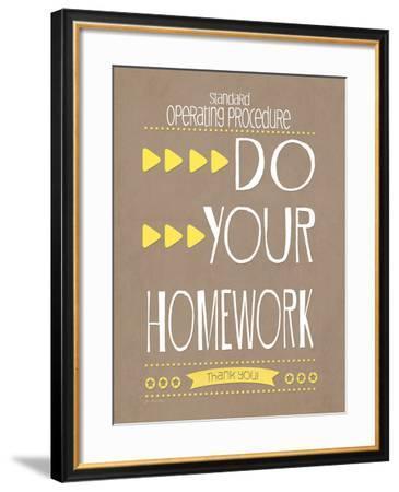 Homework-Jo Moulton-Framed Art Print