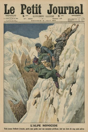 Homicidal Alp, Front Cover Illustration from 'Le Petit Journal', Supplement Illustre, 10th August…-French School-Giclee Print