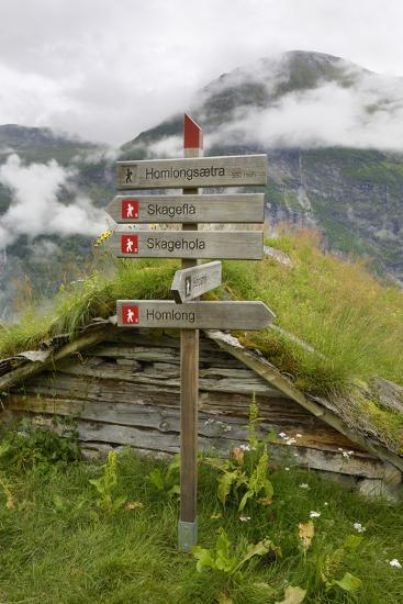 Homlongsaetra Mountain Farm, Geirangerfjorden Near Geiranger, UNESCO Site, More Og Romsdal, Norway-Gary Cook-Photographic Print