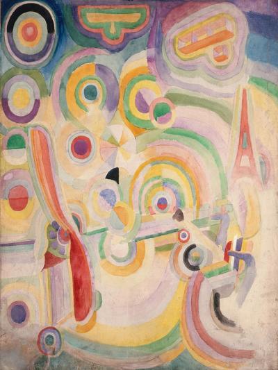 Hommage à Blériot-Robert Delaunay-Giclee Print
