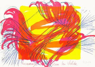 Hommage a Bram Van Velde-Jean Messagier-Limited Edition