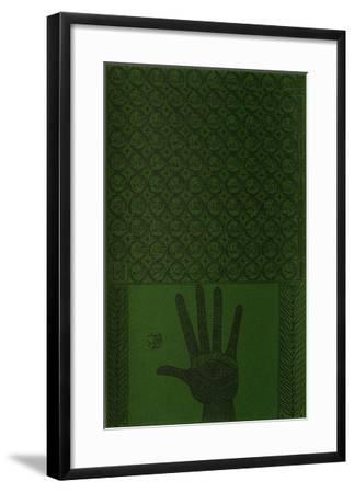 Hommage à Cheikh Al Alawi Al Moustaghanami I-Rachid Koraichi-Framed Limited Edition