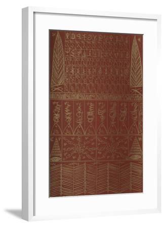 Hommage à Ibn El Arabi IV-Rachid Koraichi-Framed Limited Edition