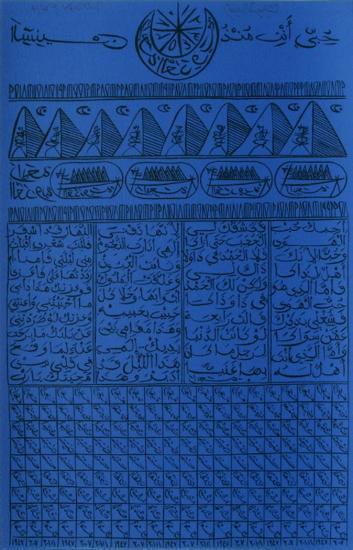 Hommage à Rabia Al Adawiyya VIII-Rachid Koraichi-Limited Edition