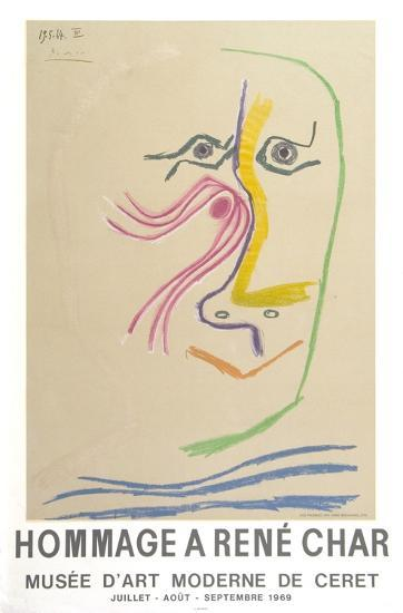 Hommage A Rene Char-Pablo Picasso-Serigraph