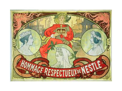Hommage Respectueux De Nestle, 1897-Alphonse Mucha-Giclee Print