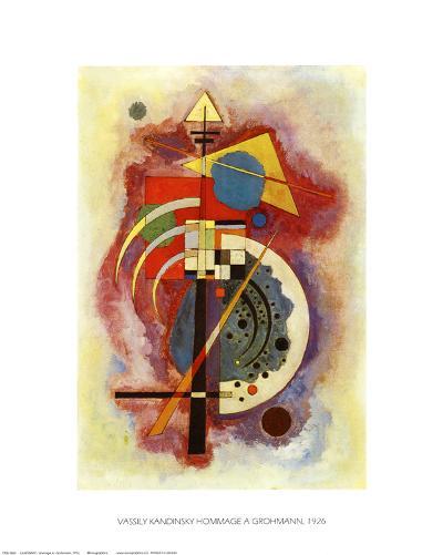 Hommage to Grohmann-Wassily Kandinsky-Art Print
