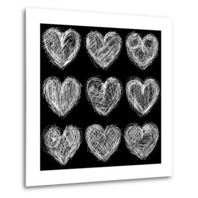Hearts Chalkboard, Love Background and Texture