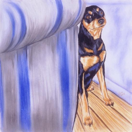 Honest, the Cat Did It!-Barbara Keith-Giclee Print