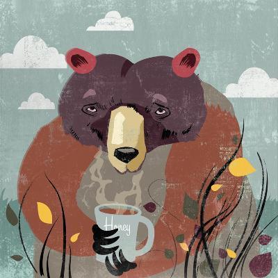 Honey bear-Anna Polanski-Art Print