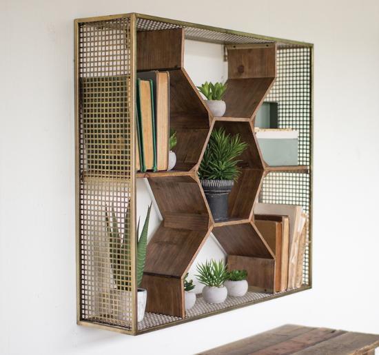 Honey Comb Wall Shelf--Alternative Wall Decor