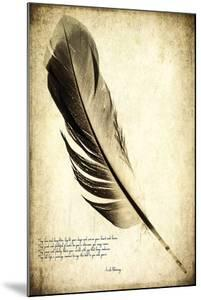 Feather on the Wind IV by Honey Malek