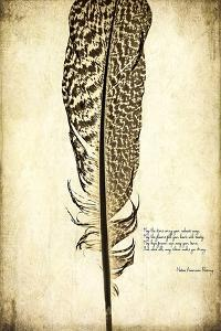 Feather on the Wind VI by Honey Malek