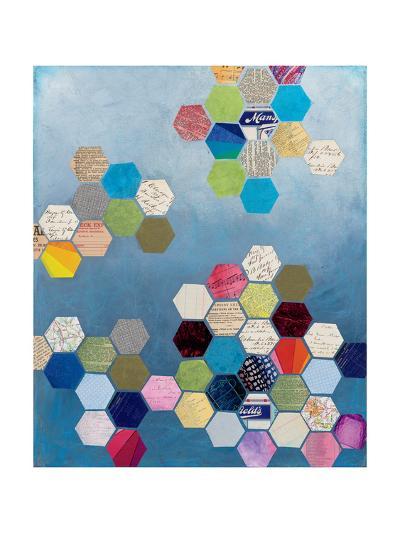 Honeycomb Background-Courtney Prahl-Art Print