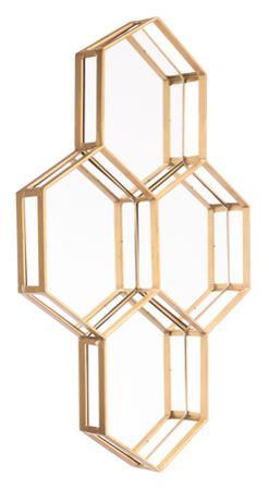 Honeycomb Mirror Gold