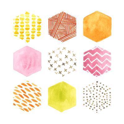 Honeycomb Patterns II-June Vess-Art Print
