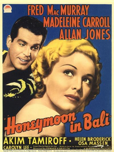 Honeymoon in Bali, Fred MacMurray, Madeleine Carroll, 1939--Art Print