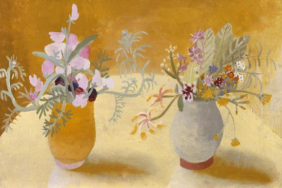 Honeysuckle and Sweet Peas-Winifred Nicholson-Giclee Print