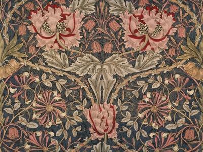 Honeysuckle Furnishing Fabric, Printed Linen, England, 1876-William Morris-Premium Giclee Print