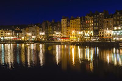 Honfleur Harbor at Night, Normandy, France-Russ Bishop-Photographic Print