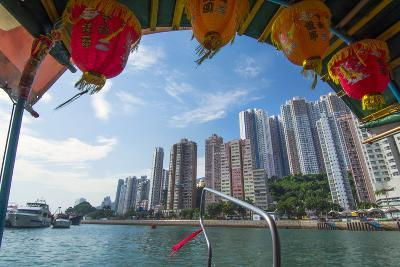 Hong Kong, China. Aberdeen from Boat in Water of Reclaimed Land with Skyscraper Condos-Bill Bachmann-Photographic Print