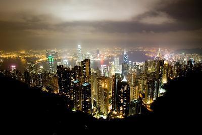 Hong Kong, China: Hong Kong Skyscrapers from High Above-Ben Horton-Photographic Print