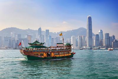 Hong Kong City Skyline View from Kowloon- Noppasinw-Photographic Print