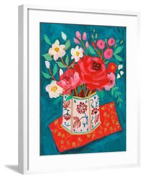 Hong Kong Garden Chinoiserie Tin-Sharon Montgomery-Framed Art Print